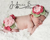 baby girl clothes - fancy flower diaper cover - baby girl diaper cover - girl headbands - girl prop set - photo prop- baby shower gift