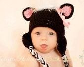 CROCHET PATTERN -Stinkin cute skunk hat
