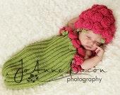 baby girl clothes, baby girl hat, baby girl props, flower hat, crochet hat, cocoon, newborn prop, infant hat, baby shower gift, baby girls