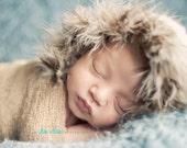 baby boy hat, baby eskimo hat, baby boy props, photography prop, fuzzy bonnet for newborns, newborn hats, baby shower gift