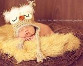 Crochet hat pattern , owl hat pattern , baby boy hat pattern , crochet pattern , photo prop pattern