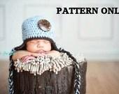 crochet hat patterns - Simple Earflap Hat pattern - crochet pattern instant download - photo prop pattern
