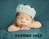 CROCHET PATTERN - Baby crown crochet pattern- boys crochet patterns, girls crochet patterns