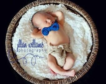 baby boy clothes- crochet pattern- Little man diaper cover and bow tie - diaper cover crochet pattern, boy props