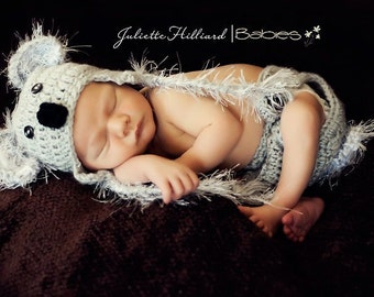 Koala hat, Koala costume, Koala photo props, baby boy hats, baby boy hat, baby girl hats, newborn photo prop