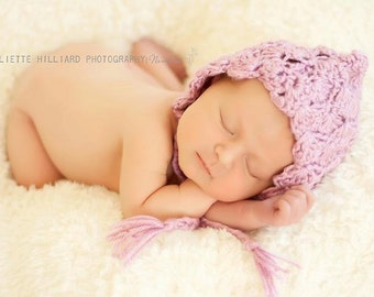crochet baby patterns - crochet hat pattern - crochet patterns - photo props - baby girl hat patterns - pixie hat crochet pattern