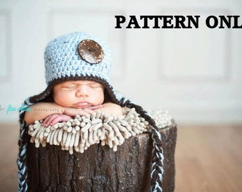 crochet hat patterns - photo prop pattern - crochet patterns - boy hat patterns - hat crochet patterns