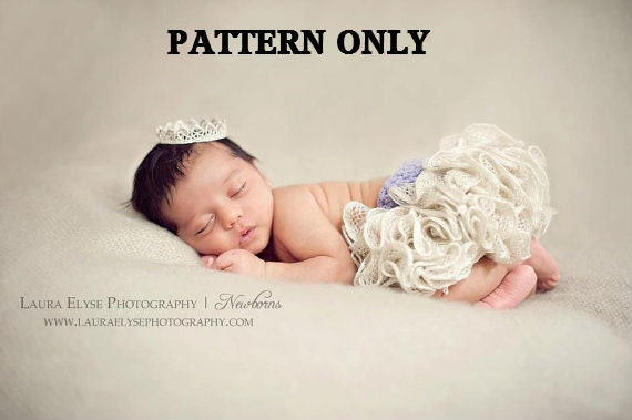 Crochet ruffle skirt pattern - baby dress crochet pattern - crochet patterns - baby girl clothes pattern - newborn crochet pattern