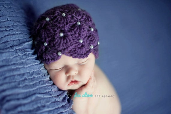 Crochet hat patterns, crochet patterns - Pearl  Fan hat pattern - kids crochet patterns