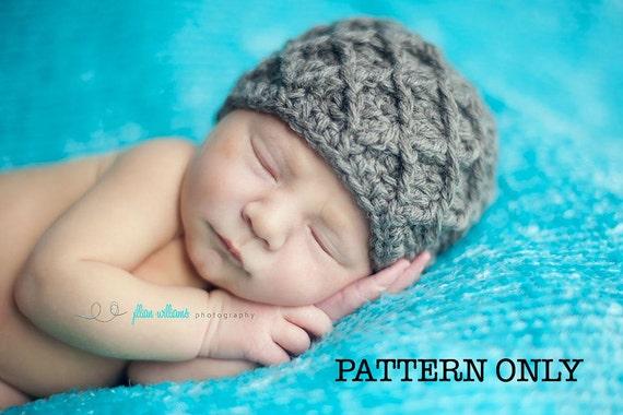 Crochet hat pattern - diamonds hat crochet pattern, instant download- photo prop, baby boy hat patterns, adult hat pattern