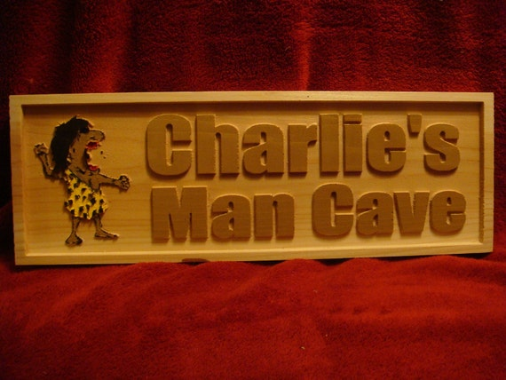 Personalized Man Cave Signs Etsy : Items similar to personalized custom carved man cave sign