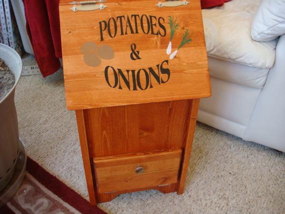 Custom made Potato and Onion Bin