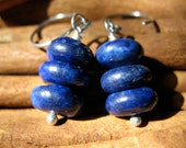 SALE!  Lapis, Silver Stack Earrings - 20% OFF
