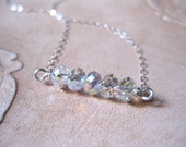 SALE!  Swarovski Crystal AB Silver Necklace - 20% OFF