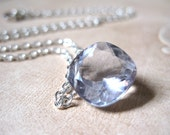 SALE!  Silver Gray Quartz Sterling Necklace - 20% OFF