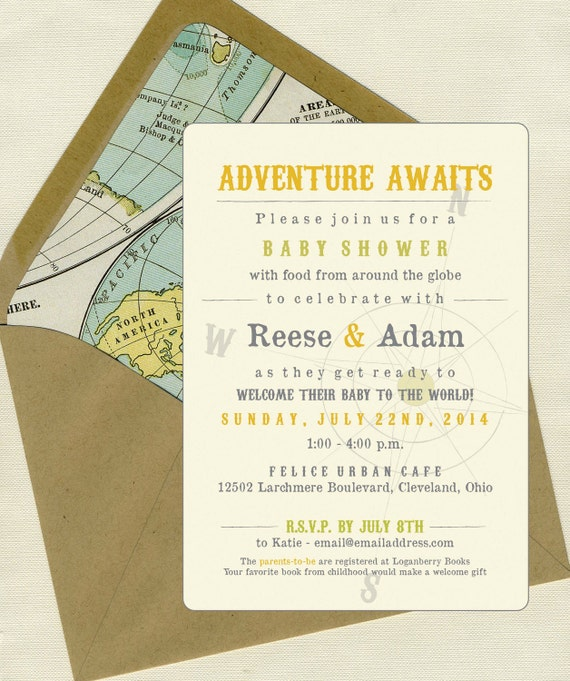 Baby Shower Invitations Etsy could be nice ideas for your invitation template