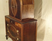 Elegant Art Deco Dresser / Armoire with intricate wood inlay