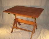 Vintage Oak Drafting Table