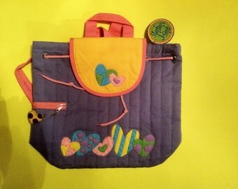 Stephen Joseph Heart girls toddler backpack personalized monogrammed