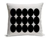 Pillow - Decorative pillow - Throw pillow - Accent pillow  Decorative throw pillow - Abstract pillow - 16 inch pillow - Black and white