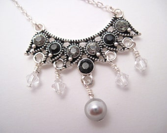 Scintillating Swarovski Crown Necklace REDUCED PRICE