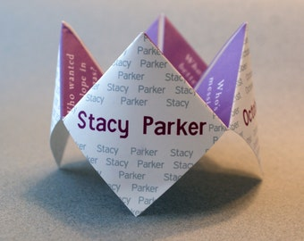 Wedding Favor, Cootie Catcher, Birthday, Wedding Invitation, Wedding Program, Guest Book, Wedding, Unique, DIY, Wedding Favor, DIY Wedding
