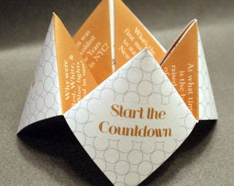 2017 New Years Eve Favor, New Years Card, New Years Decoration, Happy New Year, New Years Eve, Cootie Catcher, Card, Invitation, DIY, Custom