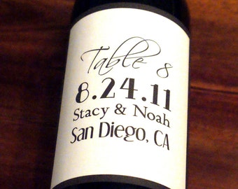 Wine Label, Wedding Wine Label, Custom, Personalized, Label, Table Numbers, Place Cards, Sticker, Party, Favor, Decoration, Bridal Shower