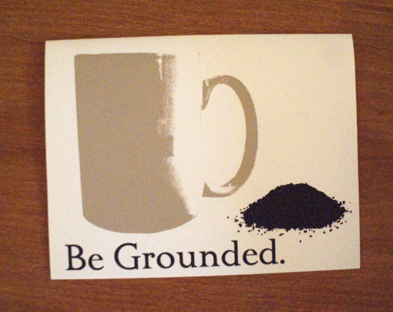 Ground Coffee with Cup Note Card