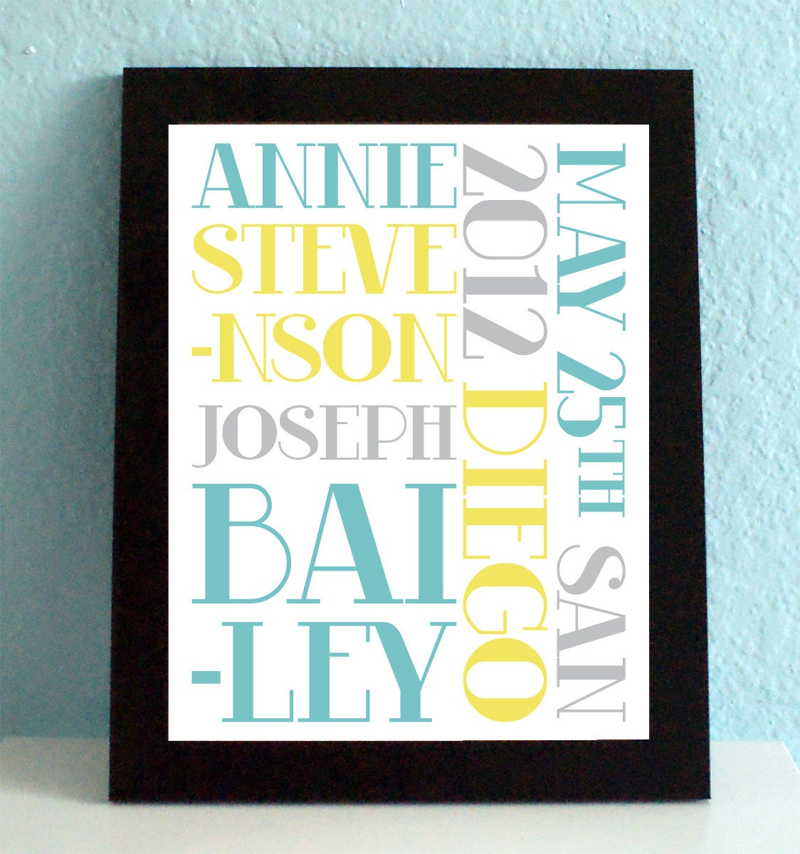 Personalized Wedding Art Print, Engagement Gift, Decoration, Printable ...