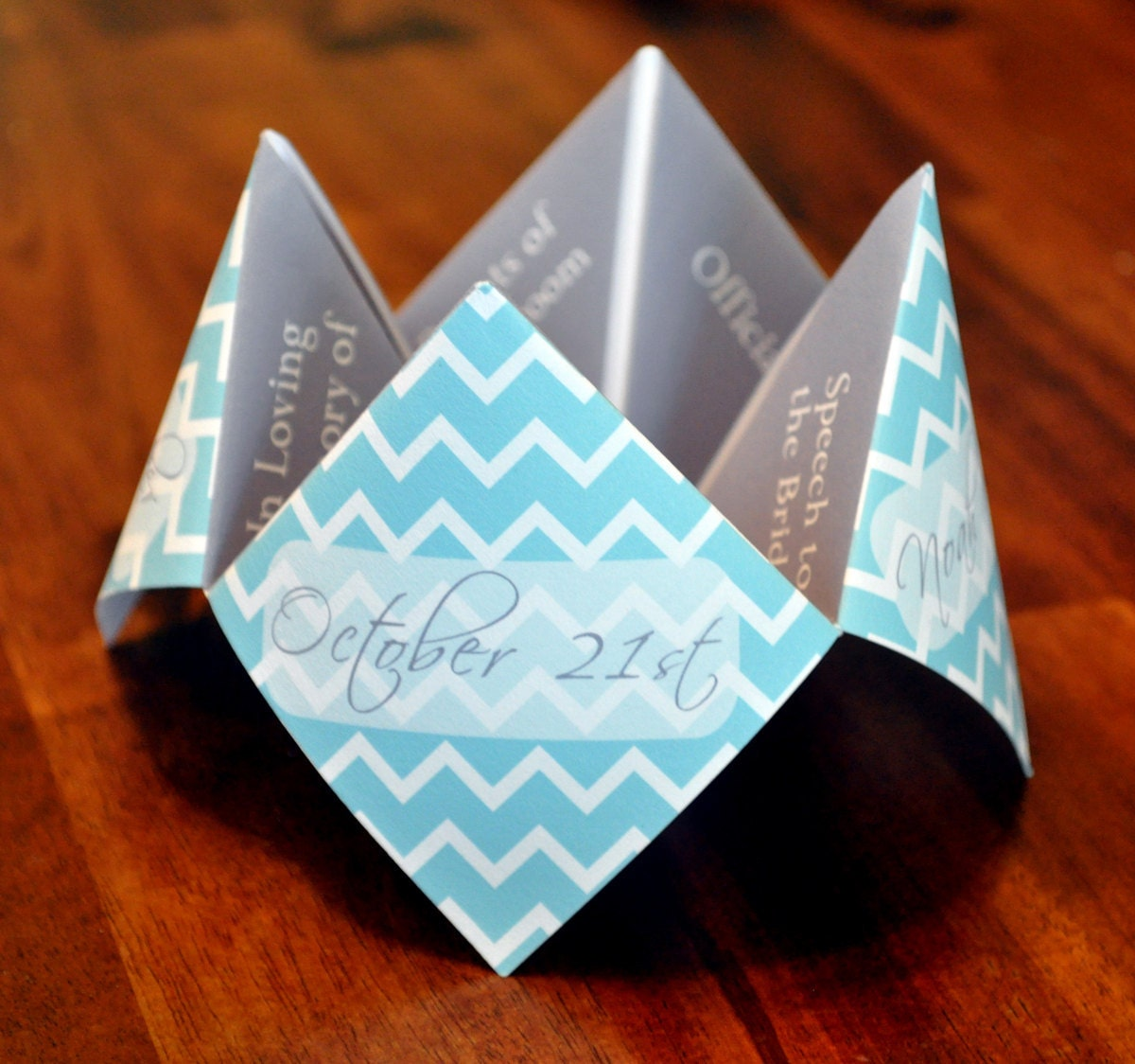 Cootie Catcher Invitation with adorable invitation template