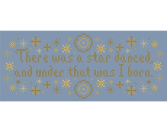 There Was a Star Danced Cross Stitch Chart