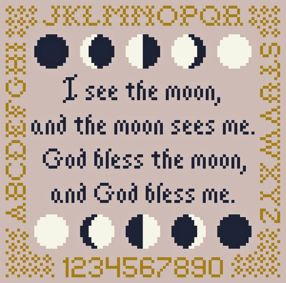 I See the Moon (and the Moon Sees Me) Cross Stitch Chart