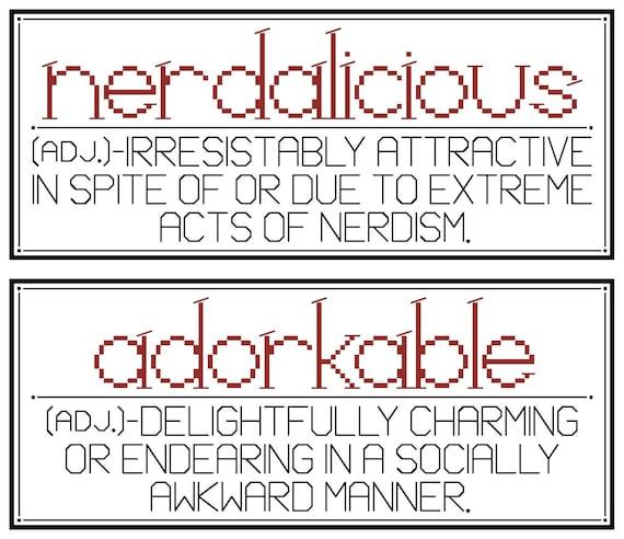 NERDALICIOUS & ADORKABLE Cross Stitch Charts