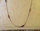 Chain and Bead Necklace