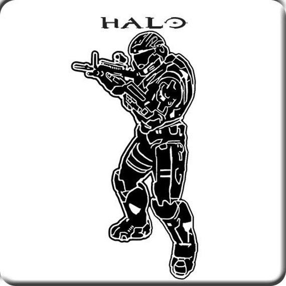 Halo 4 Master Chief Reach Vinyl wall art Sticker Decal by kisvinyl
