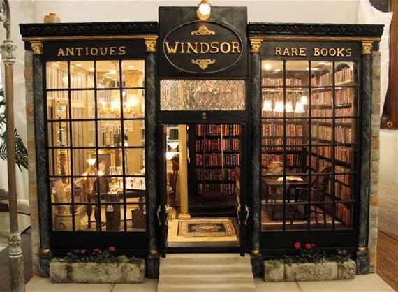 Windsor Shoppe twelfth scale antiques and rare books store