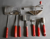 Retro Red Kitchen Utensils