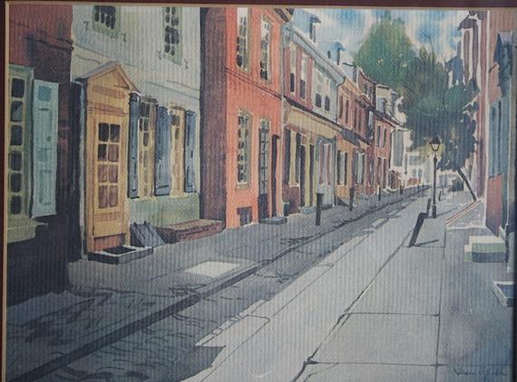 Reserved For Genastase-Vintage Elfreth's Alley, Philadelphia, PA Print