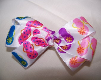 Flip Flop Ribbon Bow