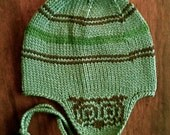 WISE OWL Toddler Small Earflap Hat in Andes Mint