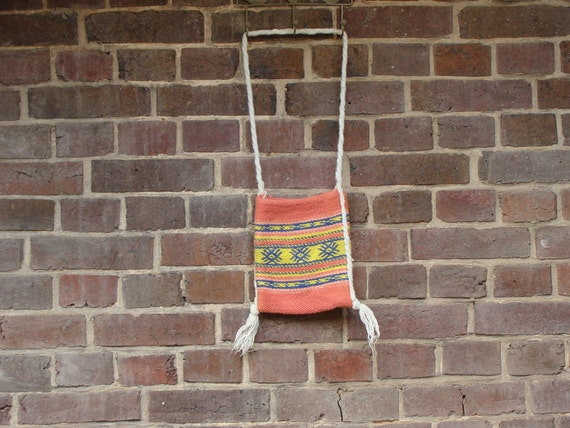 Coral & Yellow Pouch Bag