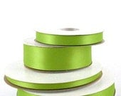 7/8 inch x 100 yds Double Face Satin Ribbon -- APPLE GREEN