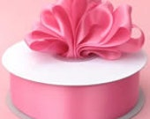 3/8 inch x 100 yds Double Face Satin Ribbon -- HOT PINK