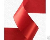 3/8 inch x 100 yds Double Face Satin Ribbon -- RED