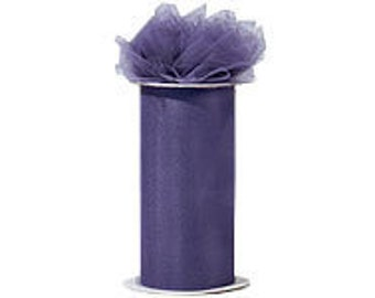 6 inch x 300 ft Nylon Tulle Roll -- AMETHYST