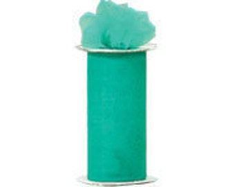 6 inch x 300 ft Nylon Tulle Roll -- TEAL