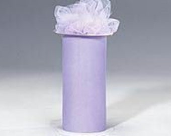 6 inch x 300 ft Nylon Tulle Roll -- WISTERIA
