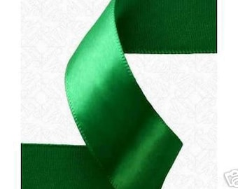 1/4 x 100 yds SINGLE FACE Satin Ribbon - Emerald