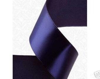 3/8 x 100 yds SINGLE FACE Satin Ribbon - Navy